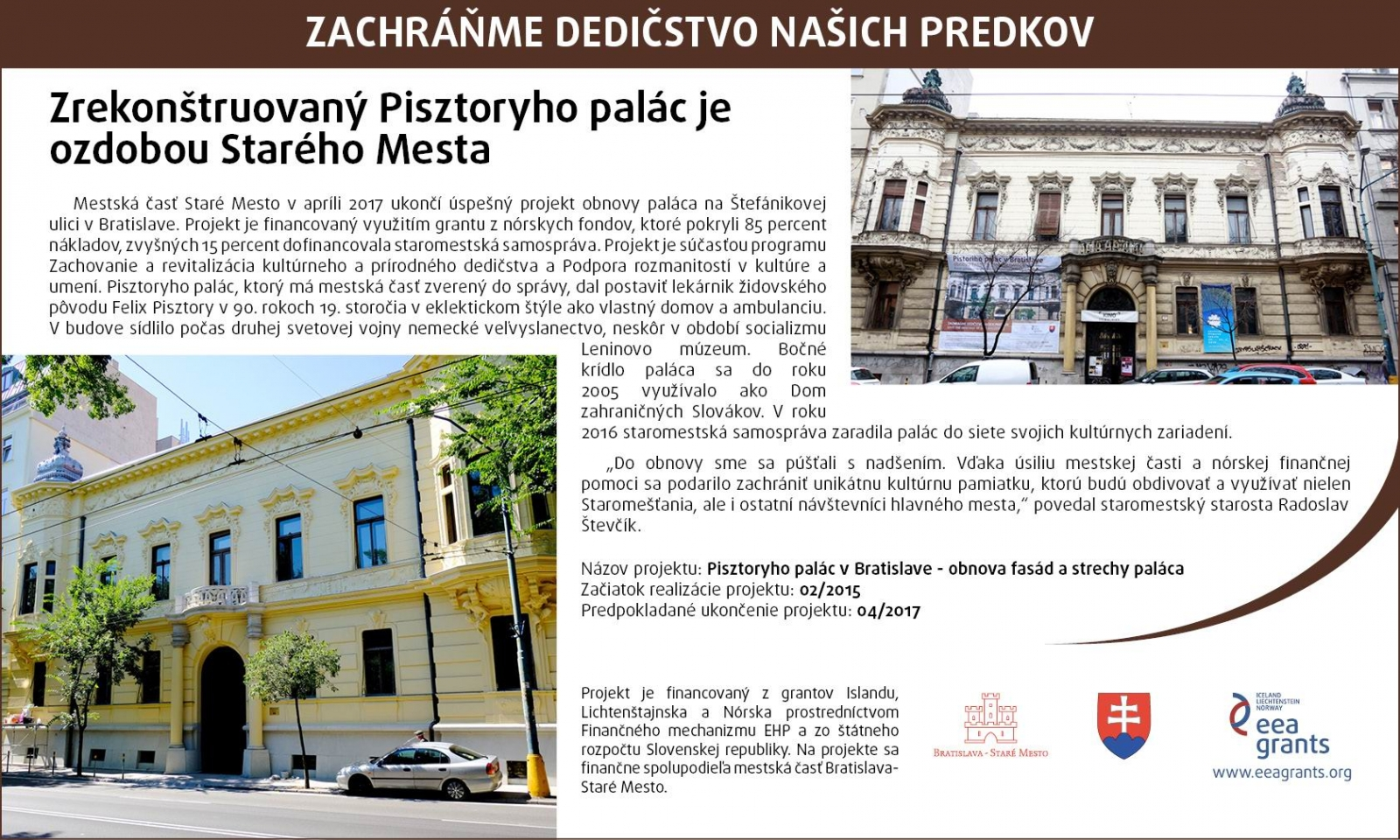 Reconstructed Pisztory Palace Embellishes the Old Town 5eb68167944